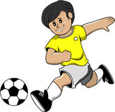Soccer boy. This is a illusration of boy play soccer Royalty Free Stock Photo