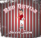 Soccer boy cartoon Stock Photography