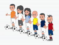 Soccer boy cartoon Stock Image