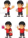 Soccer Boy Customizable Mascot 9 Stock Photography