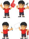 Soccer Boy Customizable Mascot 6 Stock Photography