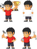Soccer Boy Customizable Mascot Stock Images