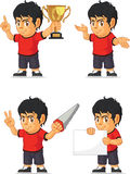 Soccer Boy Customizable Mascot 4 Stock Image