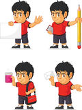 Soccer Boy Customizable Mascot 9 Stock Photography