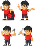 Soccer Boy Customizable Mascot 11 Stock Images