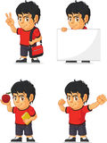 Soccer Boy Customizable Mascot 13 Royalty Free Stock Images