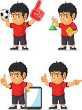 Soccer Boy Customizable Mascot 7 Stock Image