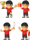 Soccer Boy Customizable Mascot 3 Royalty Free Stock Photos