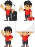 Soccer Boy Customizable Mascot 14 Stock Photography