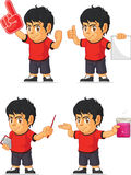 Soccer Boy Customizable Mascot 5 Royalty Free Stock Image
