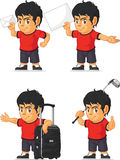 Soccer Boy Customizable Mascot 16 Royalty Free Stock Photography
