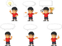 Soccer Boy Customizable Mascot 21 Royalty Free Stock Image