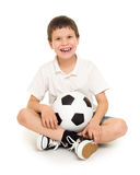 Soccer boy studio isolated. Soccer boy with ball studio isolated Stock Photo