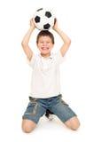 Soccer boy studio isolated Stock Image