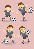Soccer Boy Vector Cartoon Illustration Royalty Free Stock Image