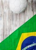Soccer: Brasil Flag Background For International Competition Stock Photos