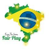 Soccer Of Brazil Abstract Illustration Editable Stock Photos