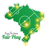 Soccer Of Brazil Abstract Illustration Editable Stock Photo