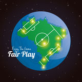 Soccer Of Brazil Abstract Illustration Editable Stock Photography