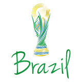 Soccer Of Brazil Abstract Illustration Editable Royalty Free Stock Image