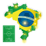 Soccer Of Brazil Abstract Illustration Editable Royalty Free Stock Photography