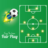 Soccer Of Brazil Abstract Illustration Editable Stock Image