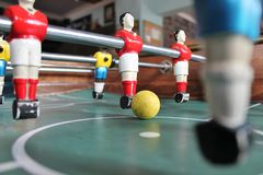 Foosball Soccer Brazil Table top footballstock, photo, photograph, image, picture. Foosball Soccer Brazil shirts Table top football in team colors stock, photo royalty free stock photo