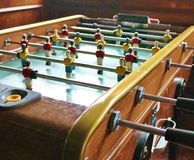 Soccer Brazil Tabletop Foosball football Stock Images
