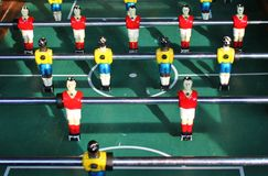Soccer Brazil Tabletop Foosball football Stock Photo