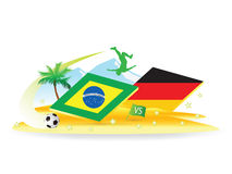 Soccer Brazil vs Germany Royalty Free Stock Photos