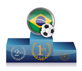 Soccer brazil winner's podium illustration design Royalty Free Stock Photography