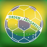 Soccer brazilian. Over green background vector illustration Stock Photo