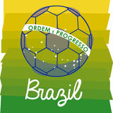Soccer brazilian. Over wooden background vector illustration Stock Image