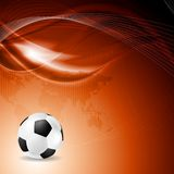 Soccer bright background with abstract waves Royalty Free Stock Photos