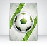 Soccer brochure Stock Photos