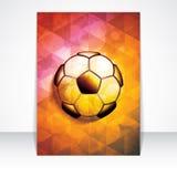 Soccer brochure Royalty Free Stock Photo
