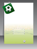 Soccer brochure with notepaper Stock Photography