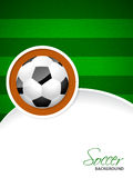 Soccer brochure with soccer ball sticker Royalty Free Stock Photo