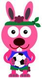 Soccer bunny Stock Photo