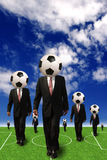 Soccer business Stock Image