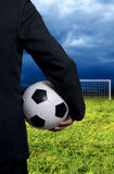 Soccer business Royalty Free Stock Photo