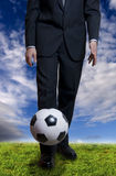 Soccer business Stock Photography
