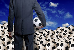 Soccer business Stock Images