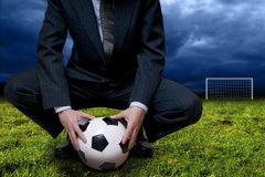 Soccer business concept Royalty Free Stock Images