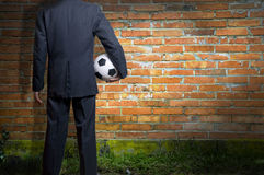 Soccer business concept Stock Photo
