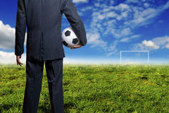 Soccer business and goal Royalty Free Stock Image