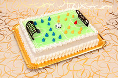Soccer cake Royalty Free Stock Photo