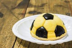 Soccer cake Stock Image