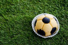 Soccer cake Royalty Free Stock Image