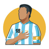 Soccer captain Argentina Royalty Free Stock Images